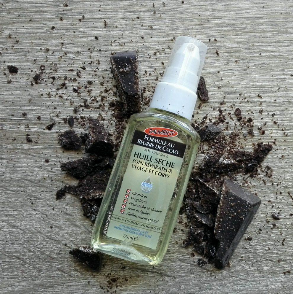 Massaggio al cioccolato con olio secco Palmer's