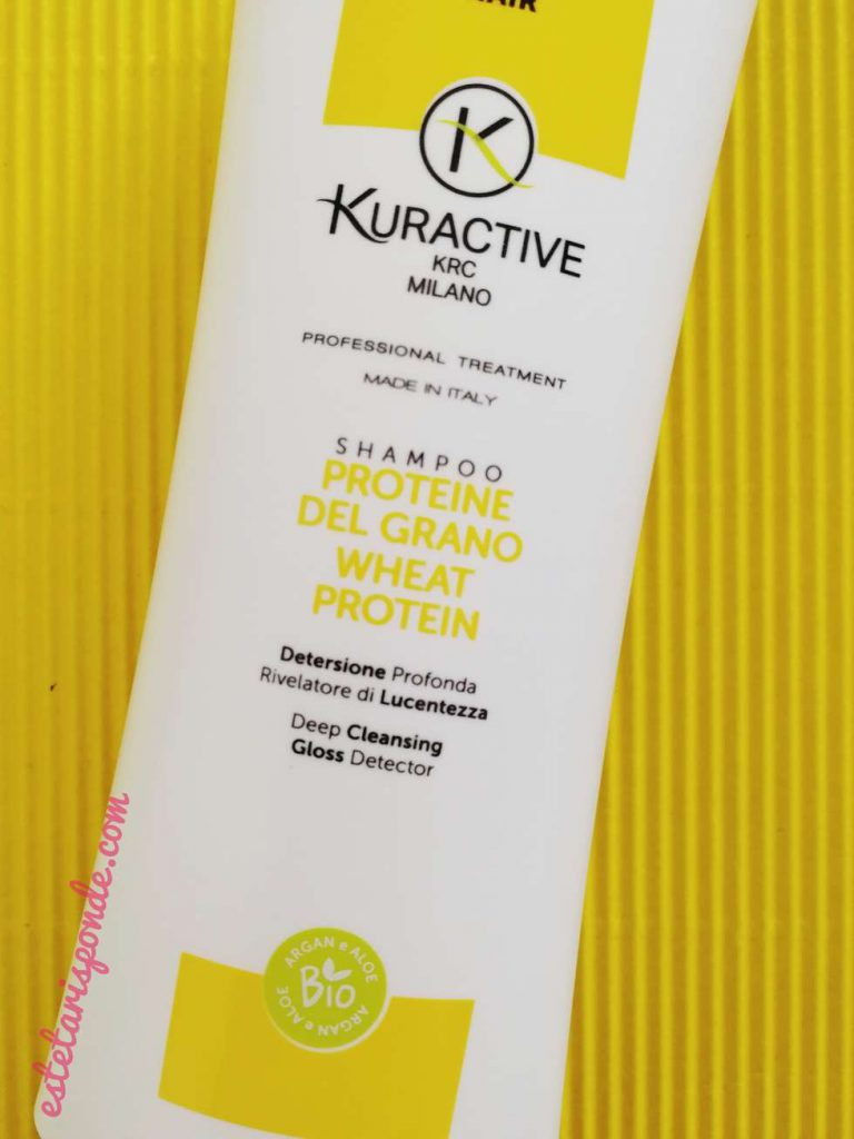 Kuractive shampoo proteine del grano