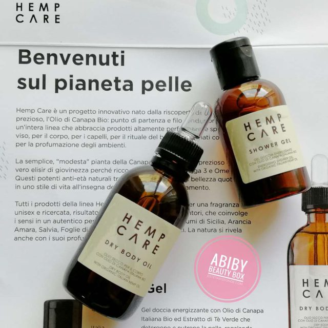 Hemp care cosmetica con canapa
