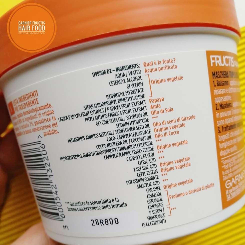 Maschera per capelli Hair Food Garnier Papaya