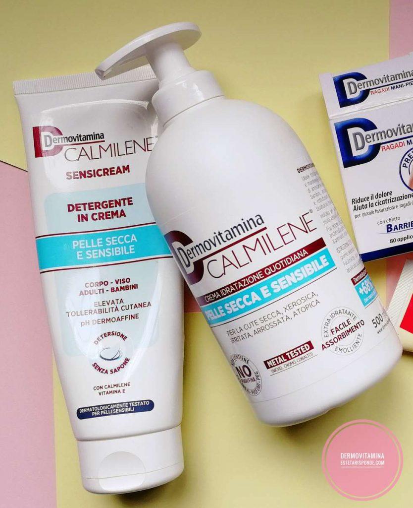 Dermovitamina Calmilene crema corpo e detergente sensicream