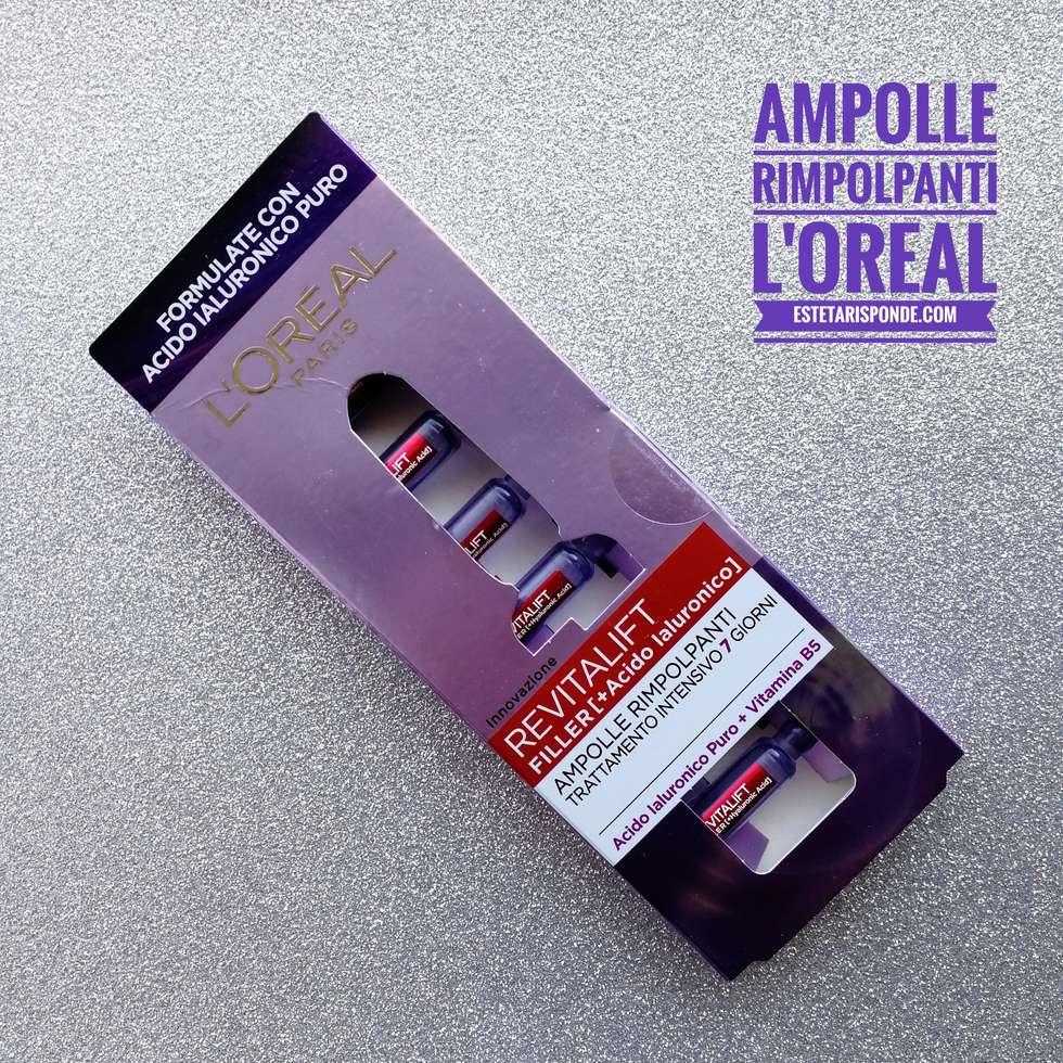 Ampolle rimpolpanti con acido ialuronico L'Oreal Revitalift recensione